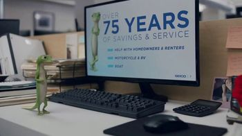 GEICO TV Spot, 'The Gecko Stays Late at Work' - Thumbnail 2