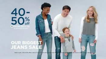 Kohl's Biggest Jeans Sale TV Spot, 'Discounts and Amazon Returns'
