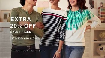 Macy's Presidents Day Sale TV Spot, 'Extra 20 Percent, Levi's and Sectional'