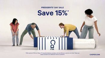 Casper Presidents Day Sale TV Spot, 'Oh Hello: 15%'