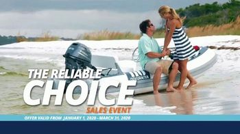 Yamaha Outboards Reliable Choice Sales Event TV Spot, 'Exceptional Reliability'