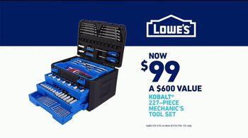 Lowe's TV Spot, 'Rod Pod: Kobalt Tool Set' Ft. Kurt Warner, Rodney Harrison, Chris Simms - Thumbnail 10