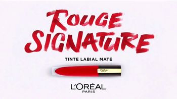 L'Oreal Paris Cosmetics Rouge Signature TV Spot, 'Deja tu marca' [Spanish]