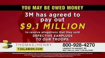 Thomas J. Henry Injury Attorneys TV Spot, 'Combat Arms Earplugs: 3M Payout' - Thumbnail 4