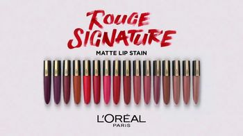 L'Oreal Paris Cosmetics Rouge Signature TV Spot, 'Sign Your Lips' Featuring Luma Grothe - Thumbnail 10