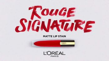 L'Oreal Paris Cosmetics Rouge Signature TV Spot, 'Sign Your Lips' Featuring Luma Grothe - Thumbnail 3