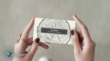 Vistaprint TV Spot, 'Own The Now: Business Cards Artfully Designed' Song by Norman - Thumbnail 1
