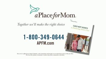 A Place For Mom TV Spot, 'Financing Senior Care'