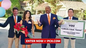Publishers Clearing House TV Spot, '$5,000 a Week: Last Chance Forever' Featuring Steve Harvey - 1711 commercial airings