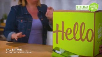 HelloFresh New Year's Sale TV Spot, 'Val & Ryan: Ten Free Meals' - Thumbnail 1