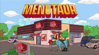Jack in the Box Fish Sandwich Combo TV Spot, 'Menutaur: Blown Away' - Thumbnail 2
