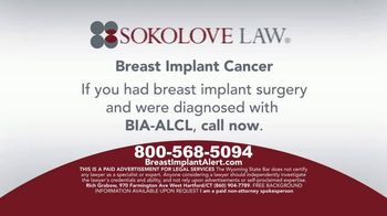 Sokolove Law TV Spot, 'Breast Implant Cancer' - Thumbnail 6