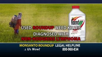 Onder Law Firm TV Spot, 'Monsanto Roundup and Non-Hodgkins Lymphoma'
