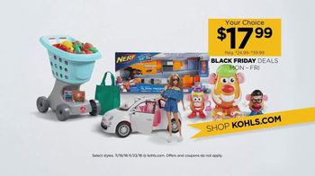 Kohl's Black Friday Deals TV Spot, 'Toys, Pendants and Vacuums' - 168 commercial airings