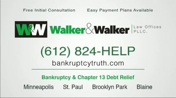 Walker & Walker Law Offices TV Spot, 'Over 65 and in Debt: Bankruptcy' - Thumbnail 10