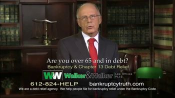 Walker & Walker Law Offices TV Spot, 'Over 65 and in Debt: Bankruptcy' - Thumbnail 3