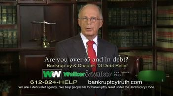 Walker & Walker Law Offices TV Spot, 'Over 65 and in Debt: Bankruptcy' - Thumbnail 4