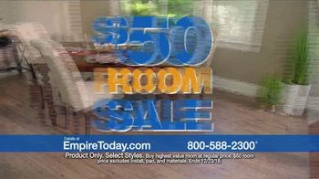 Empire Today $50 Room Sale TV Spot, \'Update Your Home for the Holidays\'