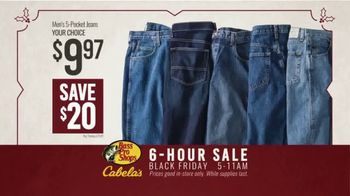 Bass Pro Shops Black Friday 6-Hour Sale TV Spot, 'Jeans and Humminbird GPS' - Thumbnail 5