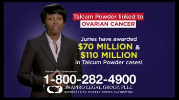 Shapiro Legal Group TV Spot, 'Talcum Powder Linked to Ovarian Cancer' - Thumbnail 3