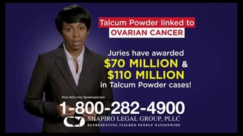 Shapiro Legal Group TV Spot, 'Talcum Powder Linked to Ovarian Cancer' - Thumbnail 6