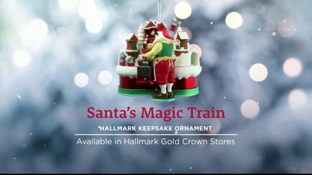 Hallmark Keepsake Ornaments Tv Commercial Hallmark Channel Santa S Magic Train Ornament Video