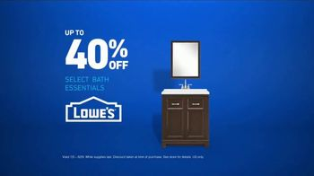 Lowe's TV Spot, 'Half Bath: Select Essentials' - Thumbnail 9