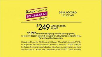 Honda Summer Spectacular Event TV Spot, 'Satisfied Pair' - Thumbnail 8