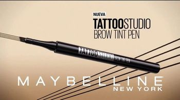 Maybelline Tattoo Studio Brow Tint Pen TV Spot, '24 horas' [Spanish]