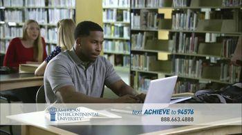 American InterContinental University TV Spot, 'Preparing'