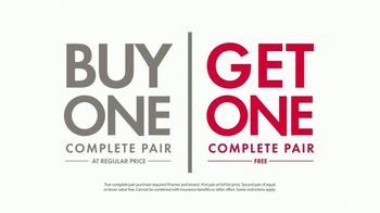 Visionworks Buy One, Get One Free Sale TV Spot, 'A Backup Pair of Glasses'