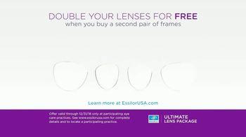 Essilor Ultimate Lens Package TV Spot, 'Double Your Lenses' - Thumbnail 10