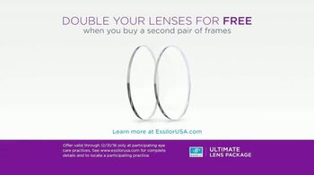 Essilor Ultimate Lens Package TV Spot, 'Double Your Lenses' - Thumbnail 9