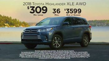 2018 Toyota Highlander TV Spot, 'Live With Peace of Mind' [T2] - Thumbnail 7