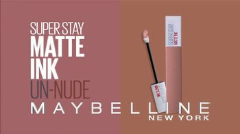 Maybelline SuperStay Matte Ink Un-Nude TV Spot, 'Go Un-Nude' Ft. Gigi Hadid - Thumbnail 3