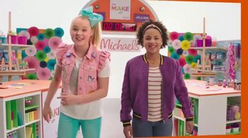 Michaels TV Spot, 'Nickelodeon: JoJo Siwa Makes Canvas Art'