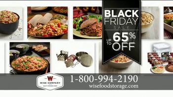 Wise Food Storage Historic Black Friday Sale TV Spot, 'Be Prepared'
