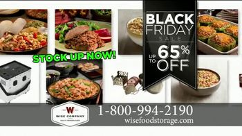 Wise Food Storage Historic Black Friday Sale TV Spot, \'Be Prepared\'