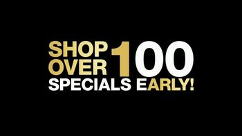Macy's Black Friday Preview TV Spot, 'Early Specials: Sweaters, Gemstones & Kids, Baby Apparel'