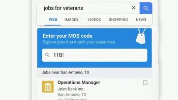 Google TV Spot, 'Veterans: Enter Your MOS Code to Find Your Next Job'
