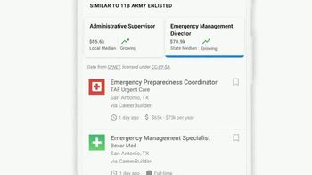 Google TV Spot, 'Veterans: Enter Your MOS Code to Find Your Next Job' - Thumbnail 9