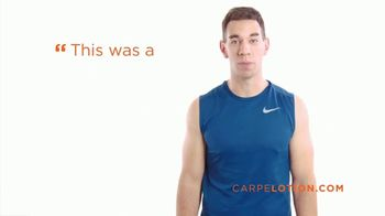 Carpe Antiperspirant Hand Lotion TV Spot, 'Real Customers Talk About How Carpe Lotion Has Helped Stop Their Sweaty Hands'