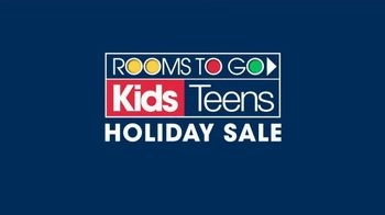 Rooms to Go Kids Holiday Sale TV Spot, 'Twin Panel Bed Set'