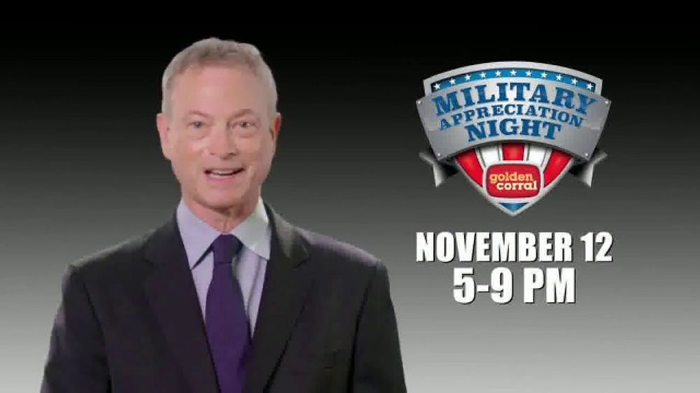 Golden Corral TV Commercial, 'Military Appreciation Night' Featuring Gary Sinise