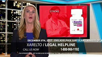 Law Offices of Gordon & Doner TV Spot, 'Xarelto Legal Helpline'