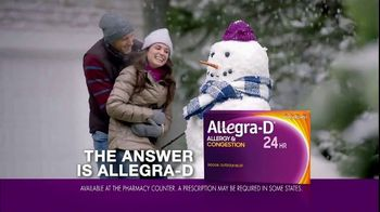 Allegra-D Allergy & Congestion TV Spot, 'The Answer to Winter Allergies' - Thumbnail 6