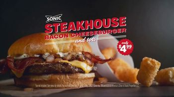 Sonic Drive-In Steakhouse Bacon Cheeseburger TV Spot, 'No Reservations' - Thumbnail 10