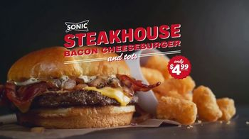 Sonic Drive-In Steakhouse Bacon Cheeseburger TV Spot, 'No Reservations' - Thumbnail 2