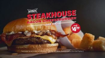 Sonic Drive-In Steakhouse Bacon Cheeseburger TV Spot, 'No Reservations' - Thumbnail 9