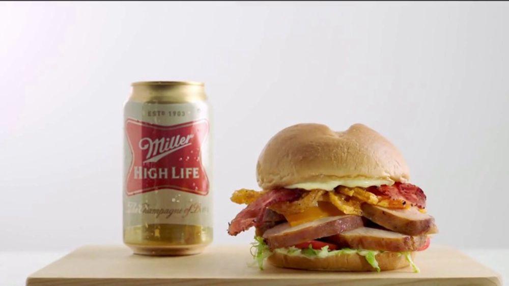 Arby's Beer Can Chicken Sandwich TV Commercial, 'Miller Beer'